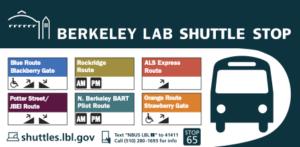 Berkeley Lab Shuttle Stop Sign